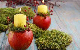 Подсвечники из яблок. Мастер-класс