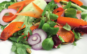 Салат мікс з гарбузом