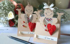Валентинки для любимых своими руками