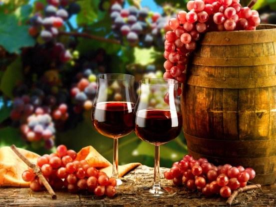 Виноград бокал бочка