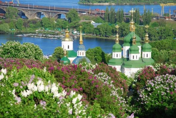 Киевский ботанический сад весной